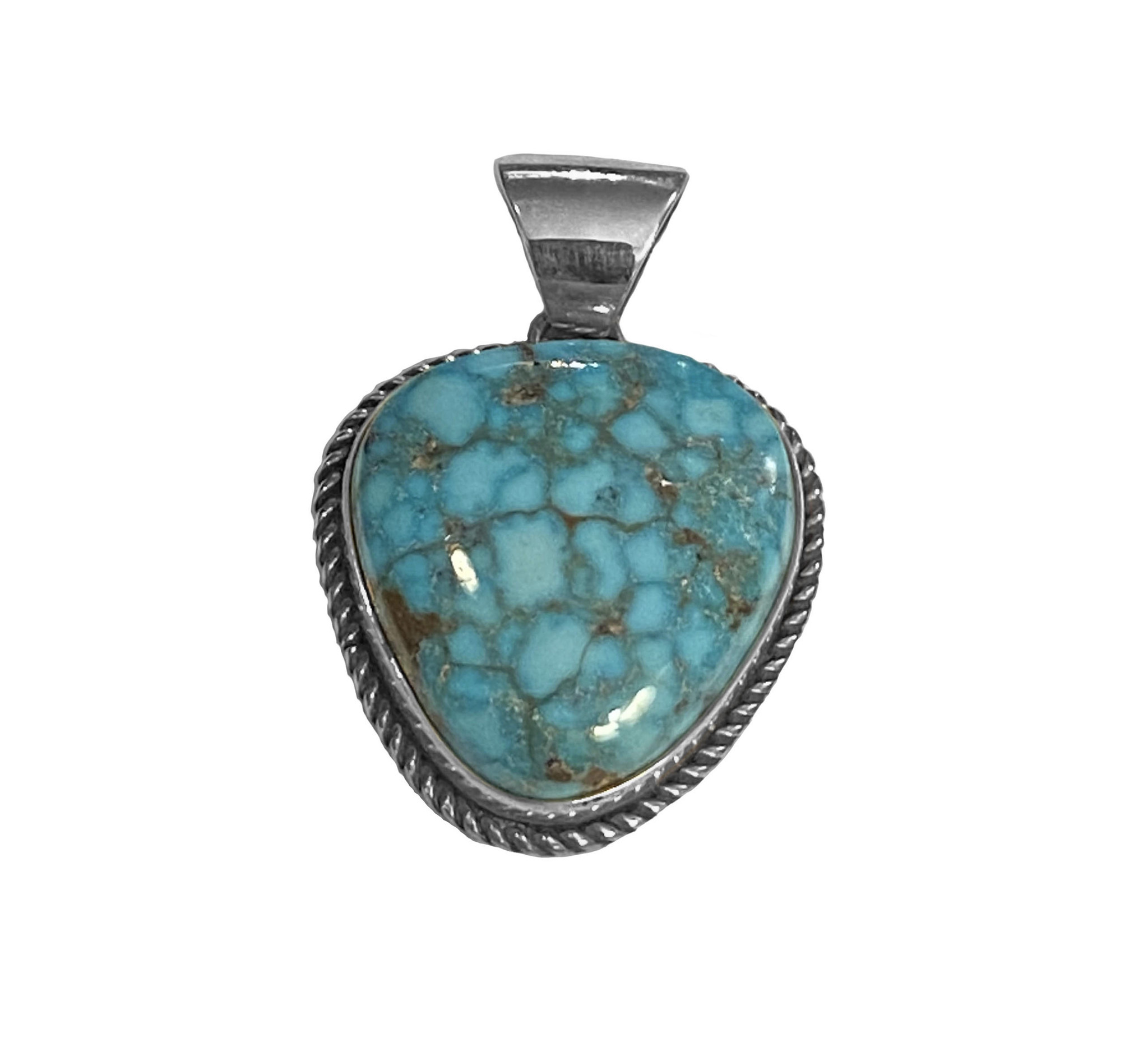 Natural Bird's Eye Kingman Pendant
