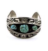 Vintage Natural Turquoise Bracelet