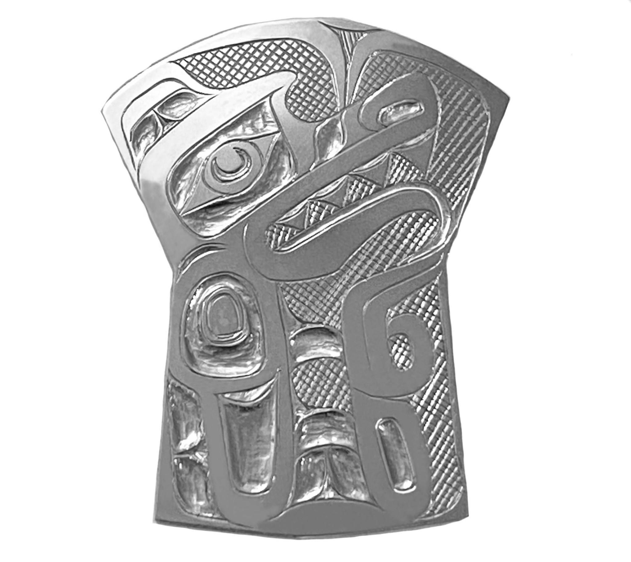 Silver Tsimshian Wolf Shield Pin/Pendant