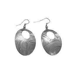Haida Abstract Orca Earrings