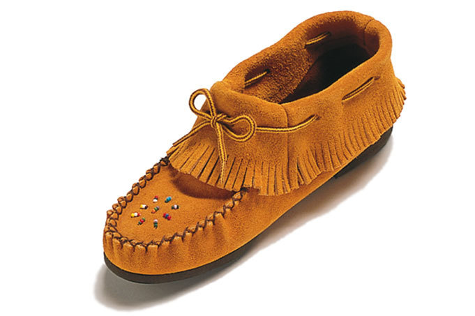 Ladies  Ankle Moccasin wth Fringe