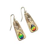 18 Kt Eagle Earrings with AAA Ammolite