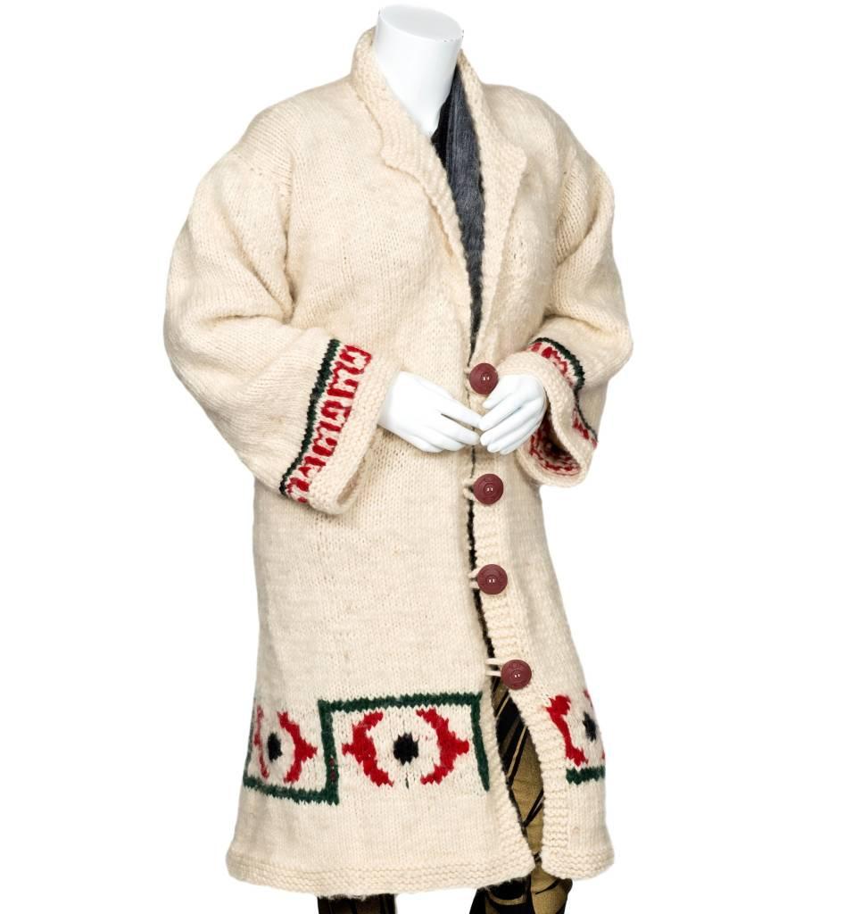 Debra Sparrow Full Length Cowichan Sweater