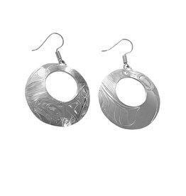Oval Haida Orca Earrings