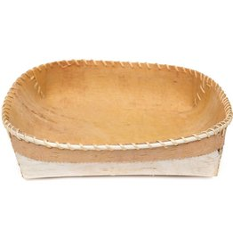 "Plain Birchbark Basket 12"" by 12"""