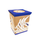 Cedar Box with White Owls and Full Moon