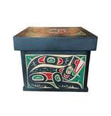 Kwak'waka'wakw Bentwood Box -  Wolf, Raven, and Sun