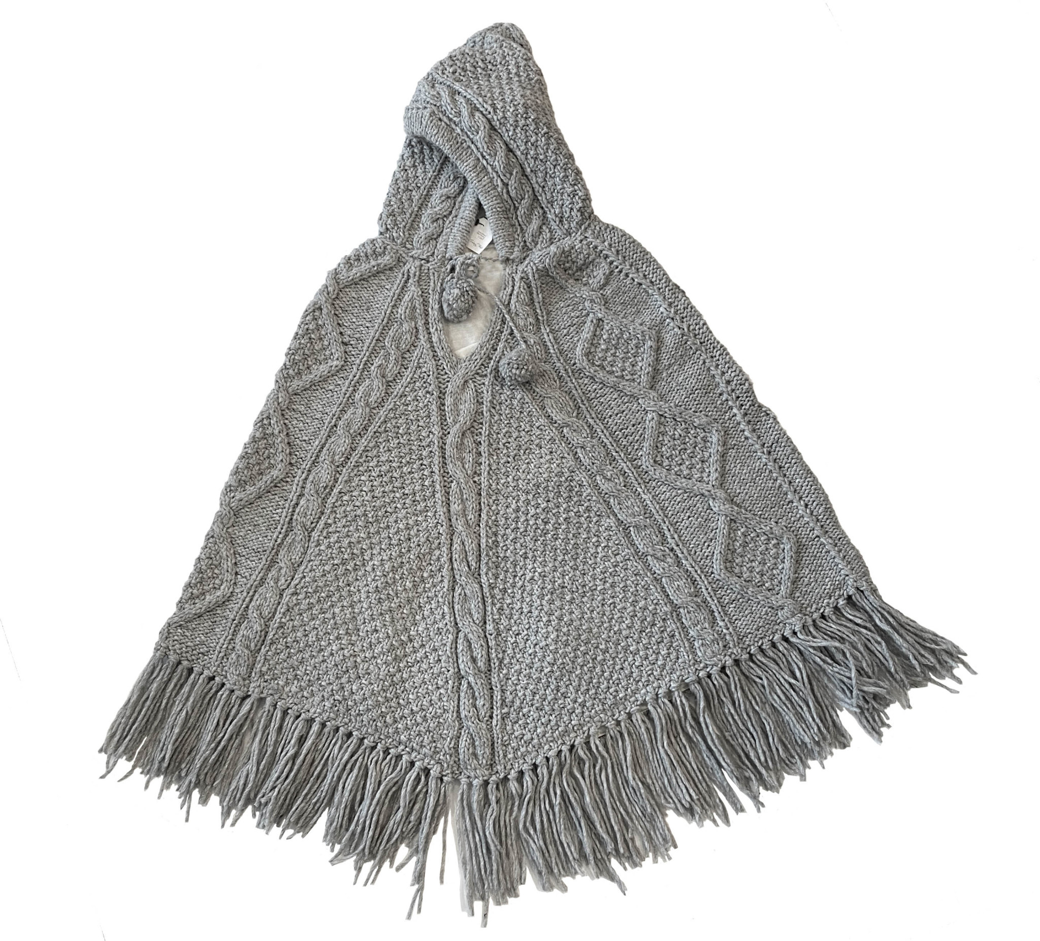 Lined Ethical Wool Poncho