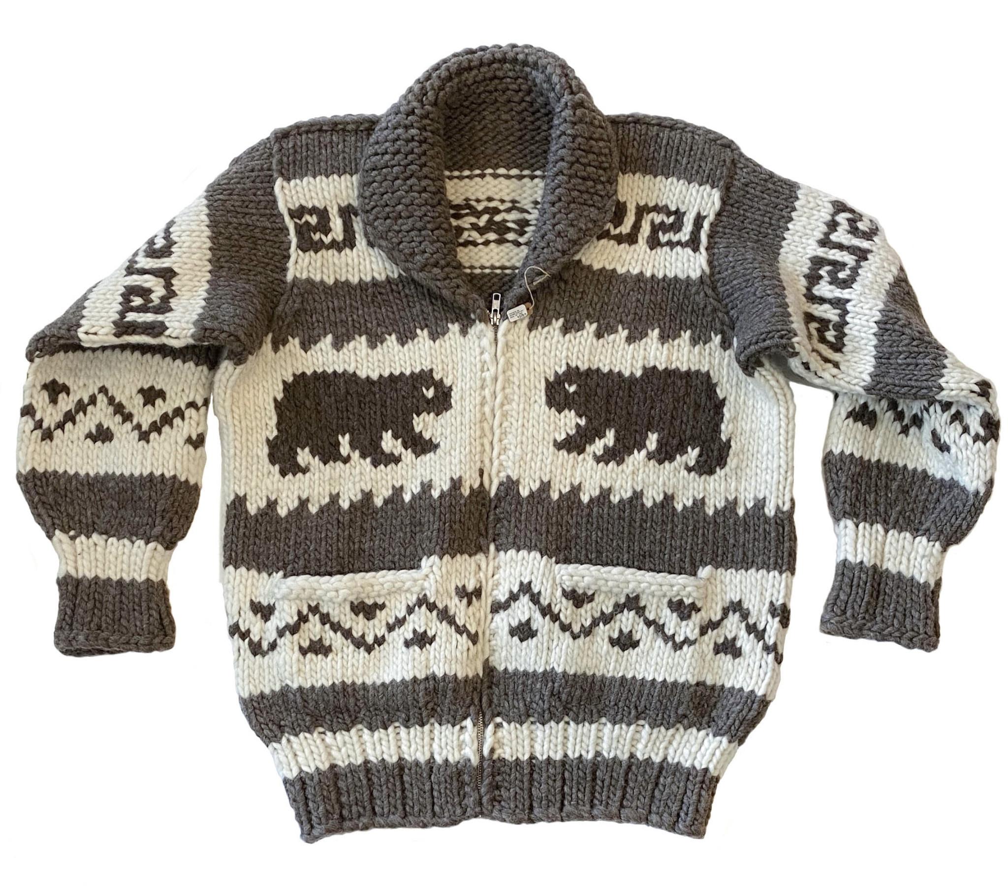 Large Cowichan Bears Sweater