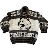 XXXL Grizzly Bear Protector Pullover Cowichan Sweater