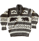 Large Bear Pullover Cowichan Sweater
