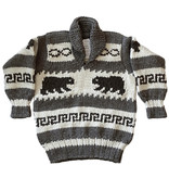 Med. Cowichan Pullover Sweater  - Bears design