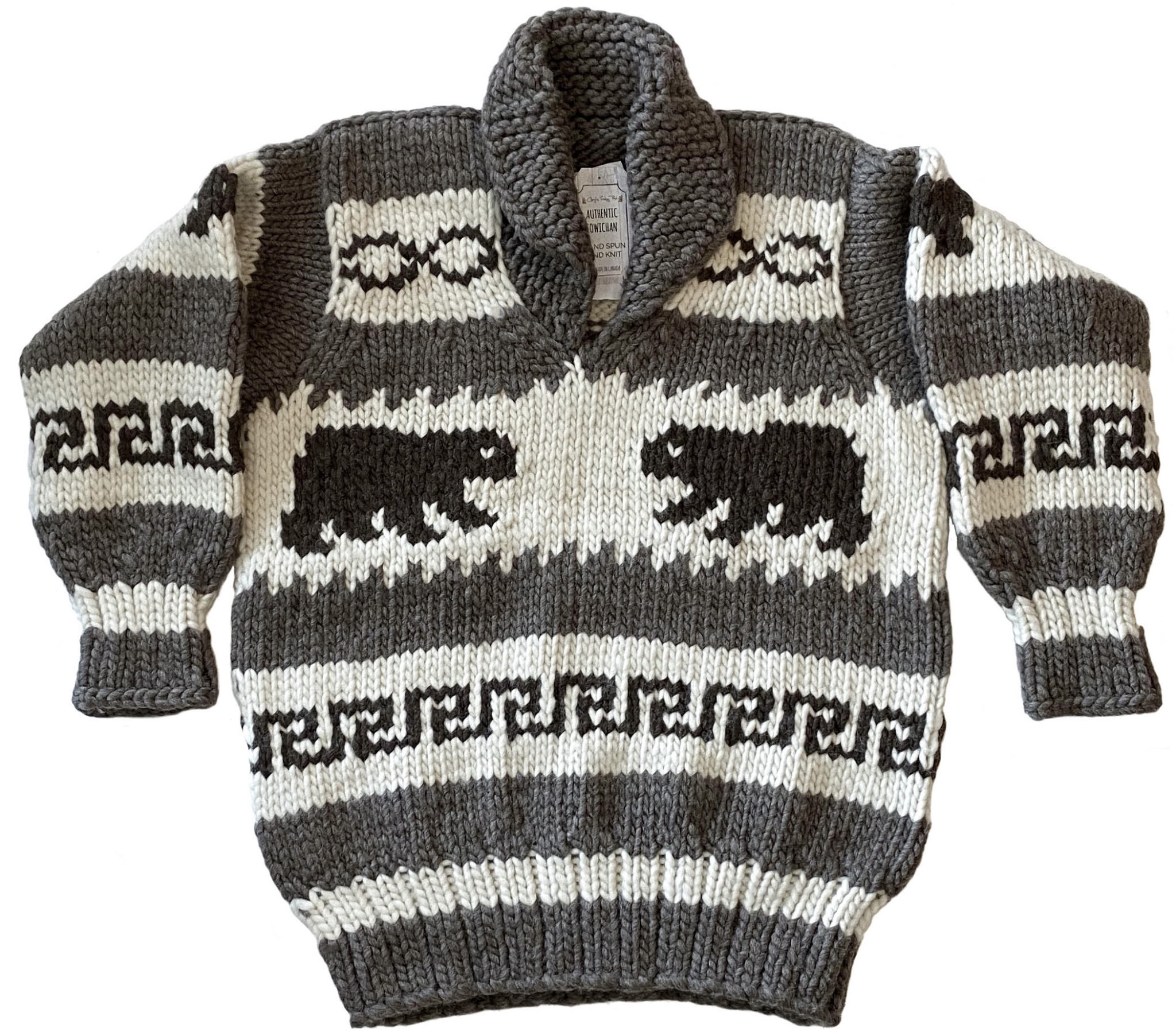 Cowichan Pullover Sweater  - Bears design