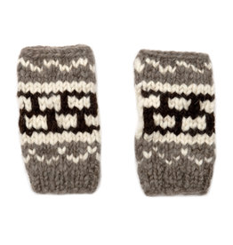 Short Cowichan Fingerless Gloves Mitts