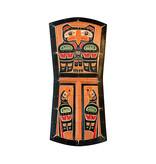 Copper Shield Eagles Plaque (Kwak'waka'wakw)