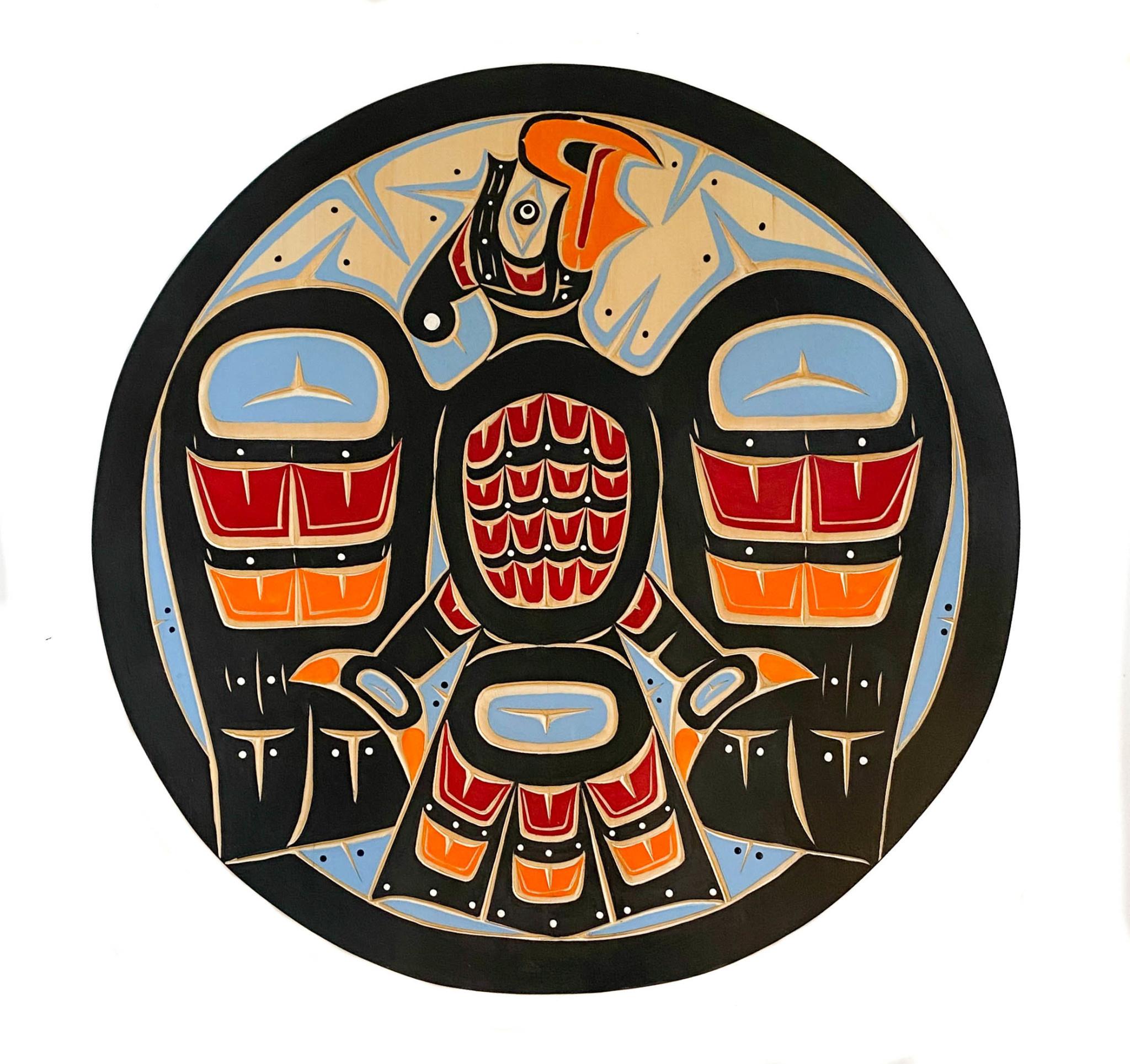 """24"""" Round Thunderbird Panel (Kwak'waka'wakw)"""