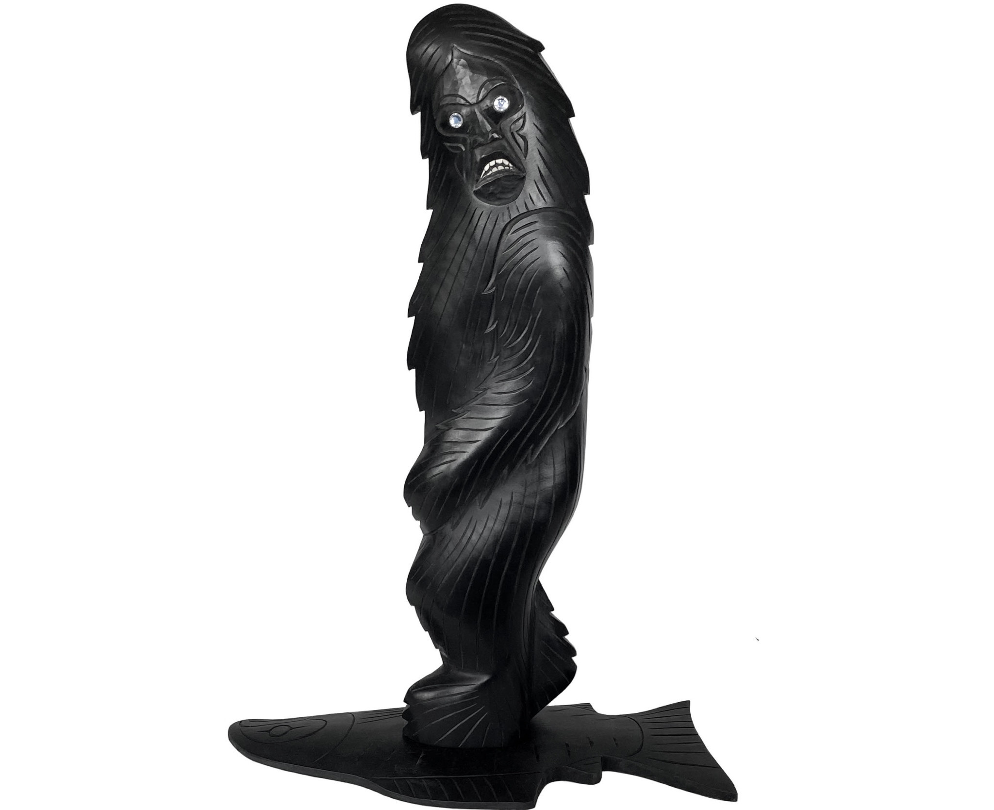 Coast Salish Sasquatch Carving