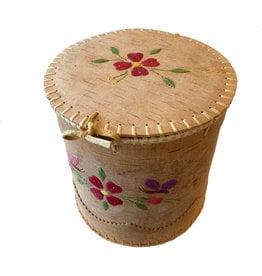 """Large Round Birchbark Basket - 8.5"""" x 8.5"""""""