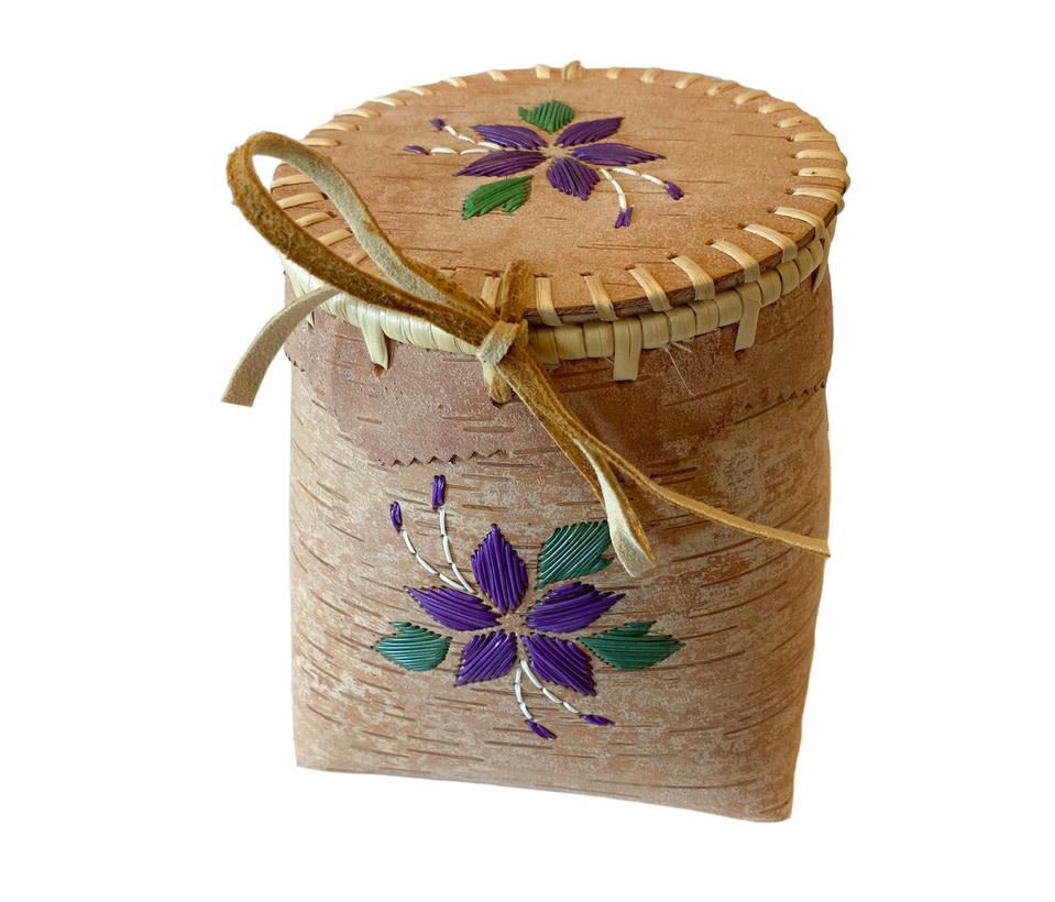 "Small Birchbark Berry Basket - 5"" by 6"""