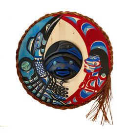 "22"" Nu-Chah-Nulth Raven Moon Mask"