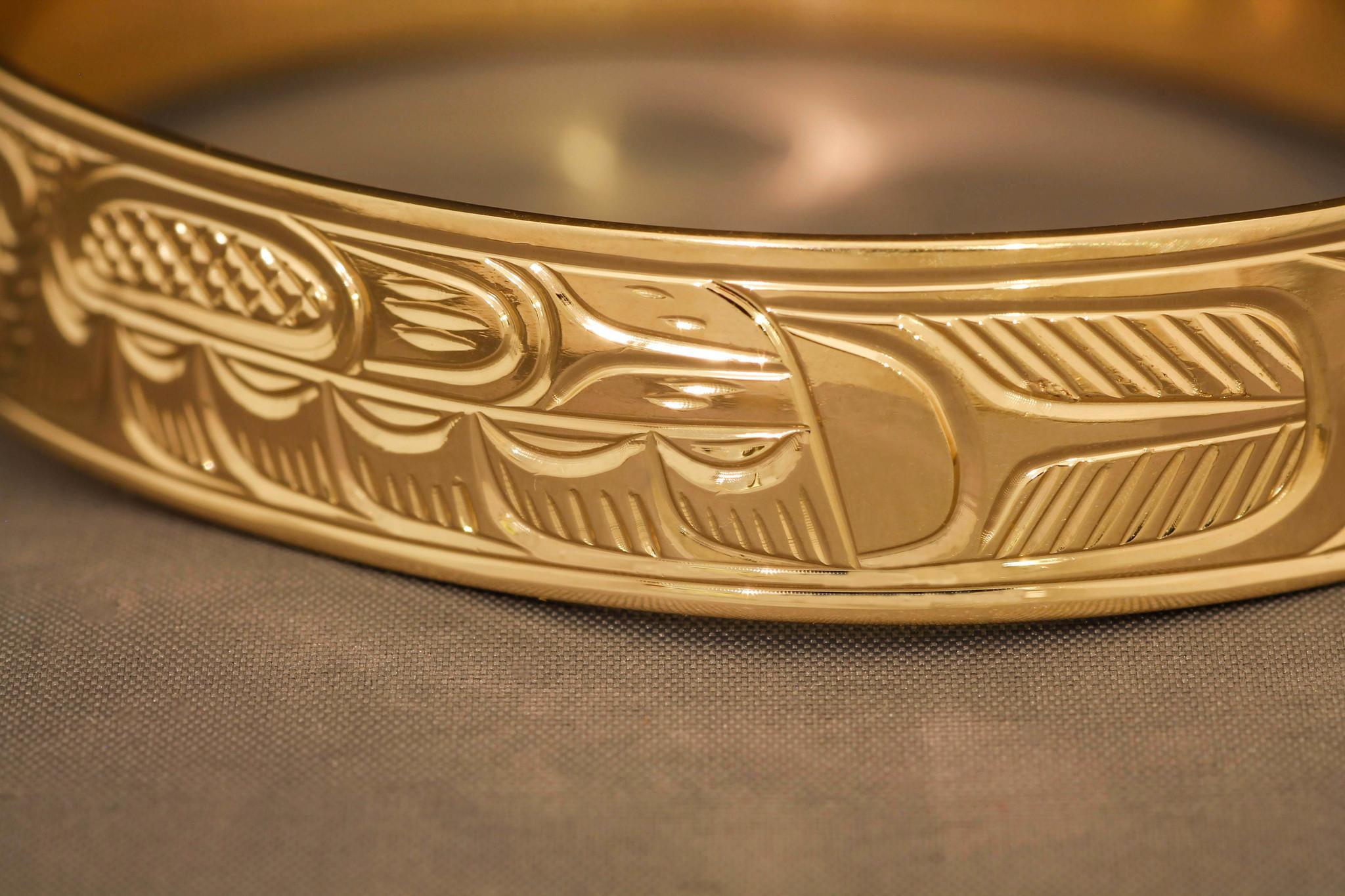 Gold Hummingbird Bracelet by Charles Harper