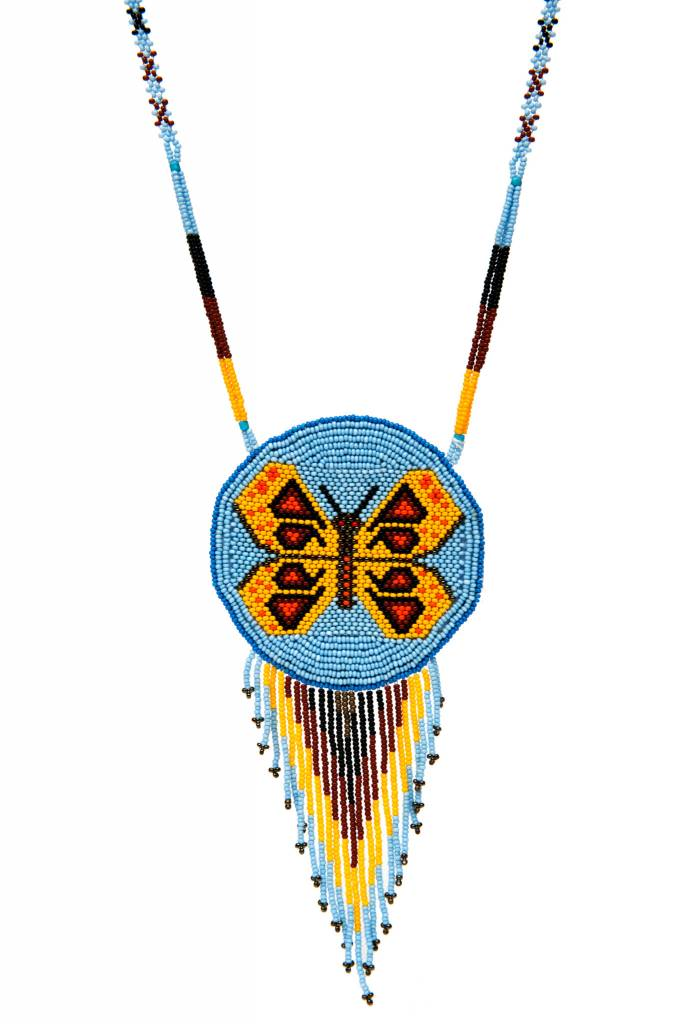 Beaded Medallion Necklaces.