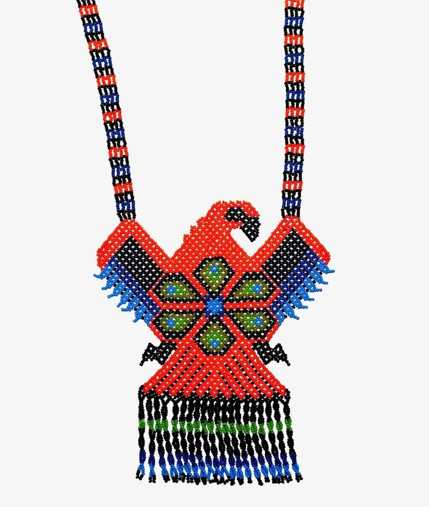 Huichol Beaded Eagle Necklace.