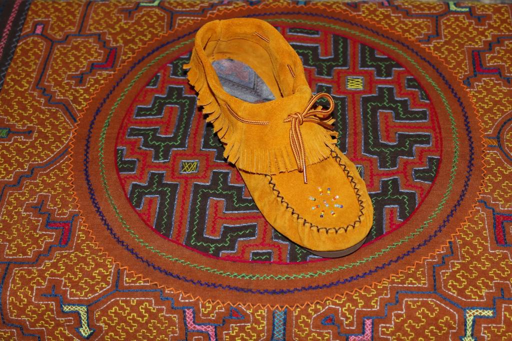 Kids Fringed Moccasins