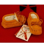 Childrens Moose-Suede Moccasins with Fleece Lining #158