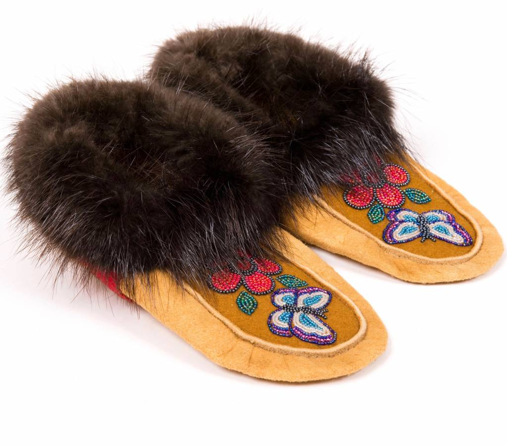 Traditional Moosehide Mocassins