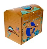 Hummingbird Chest Carved and Painted Box by Adrian Wilson (Homalco).