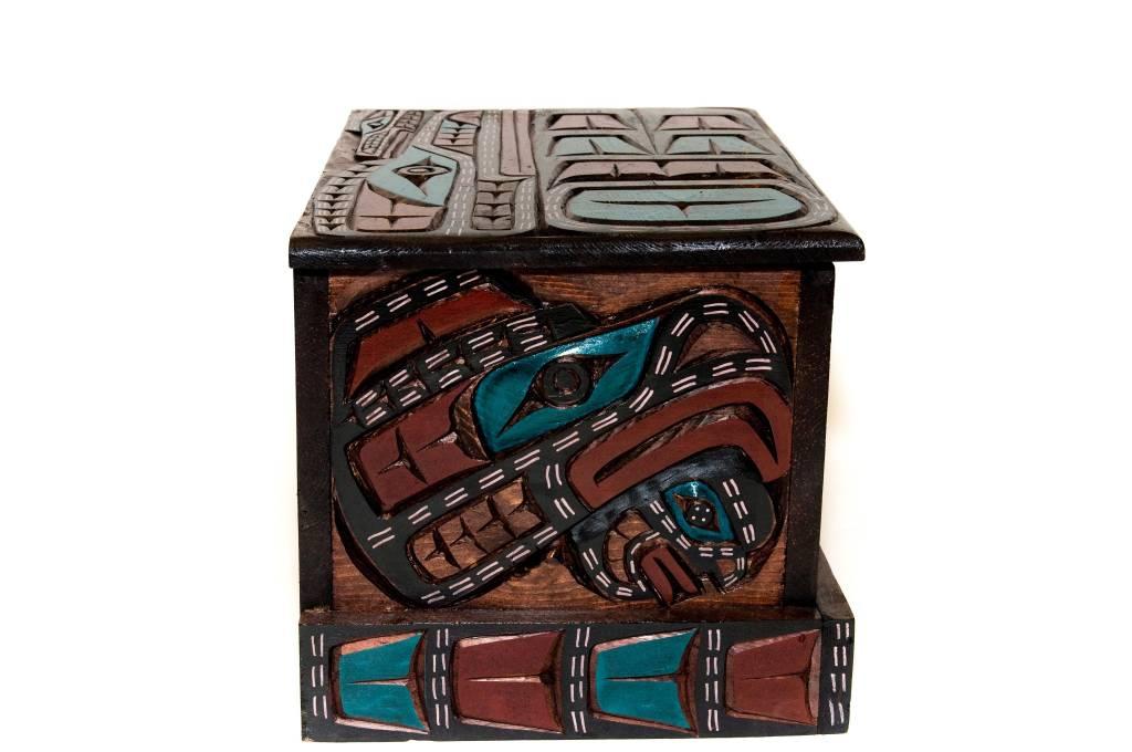 Eagle Dancer | Raven | Wolf Dancer Box by Jimmy Joseph (Kwagiulth)