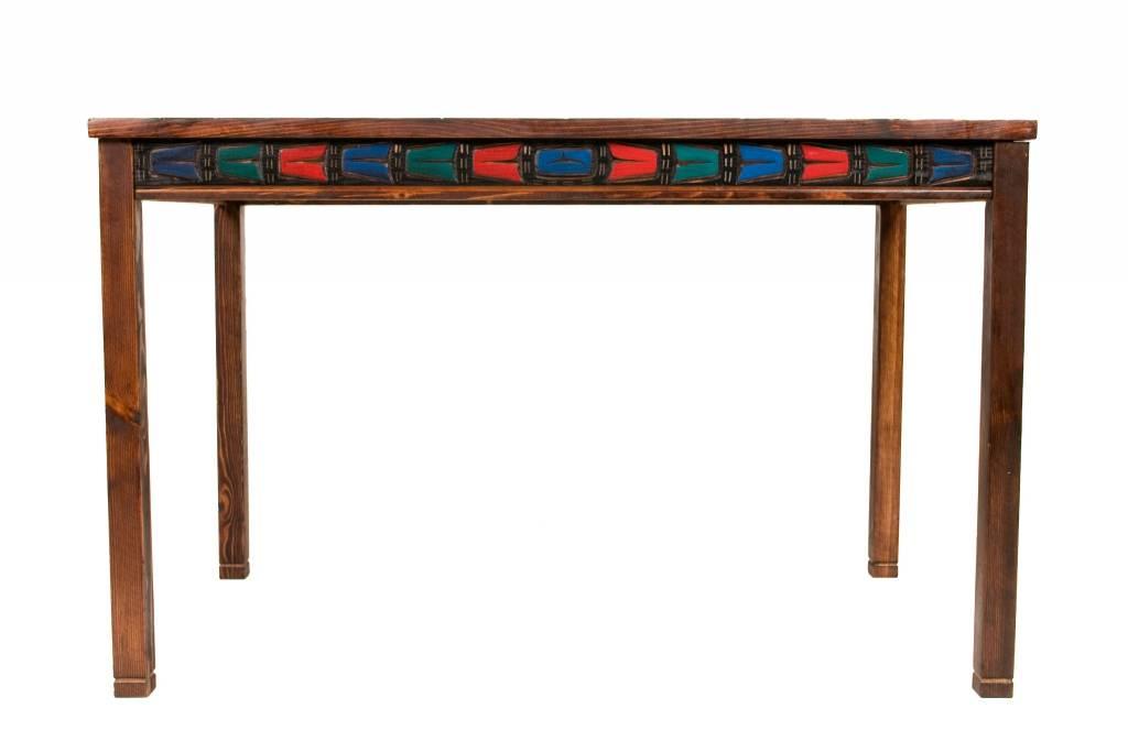 Table with Thunderbird Carved on Top (Kwak'waka'wakw)