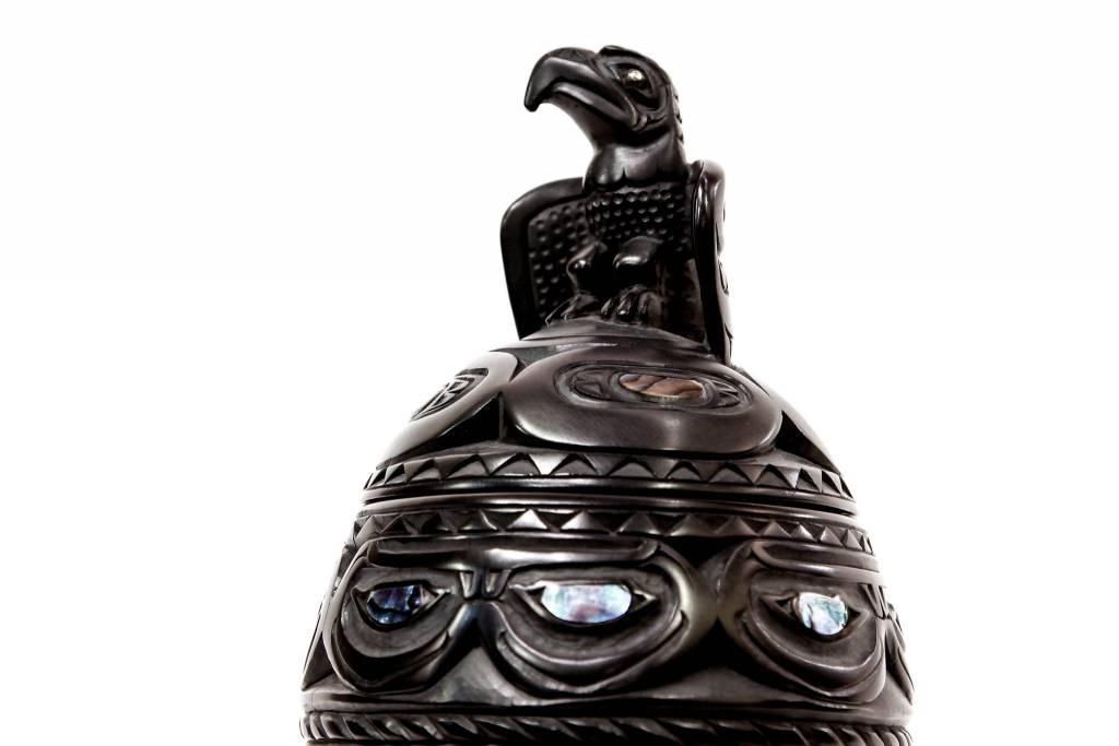 Argillite Urn by Lionel Samuels