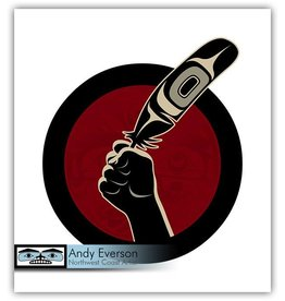 'Idle No More' silkscreen print by Andy Everson (Komoks).