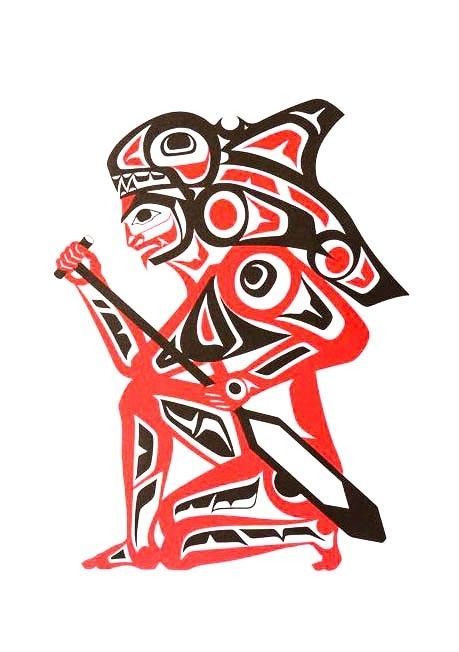 'Spirit of the Orca' print by Ron LaRochelle (Haida).