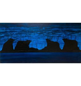 Blue Bears by Kevin Cardinal (Cree).