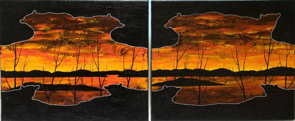 Pair of Sunsets by Kevin Cardinal (Cree).