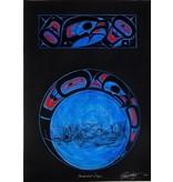 Original painting - 'Thunderbird Design' by Richard Shorty (Northern Tutchone).