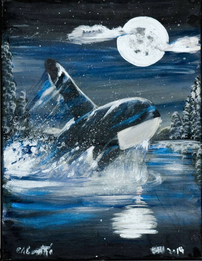 'Killer Whale' Painting by Edgar Rossetti (Carrier).