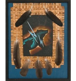 Framed Original Painting by Brian Grandbois (Chipewyan).