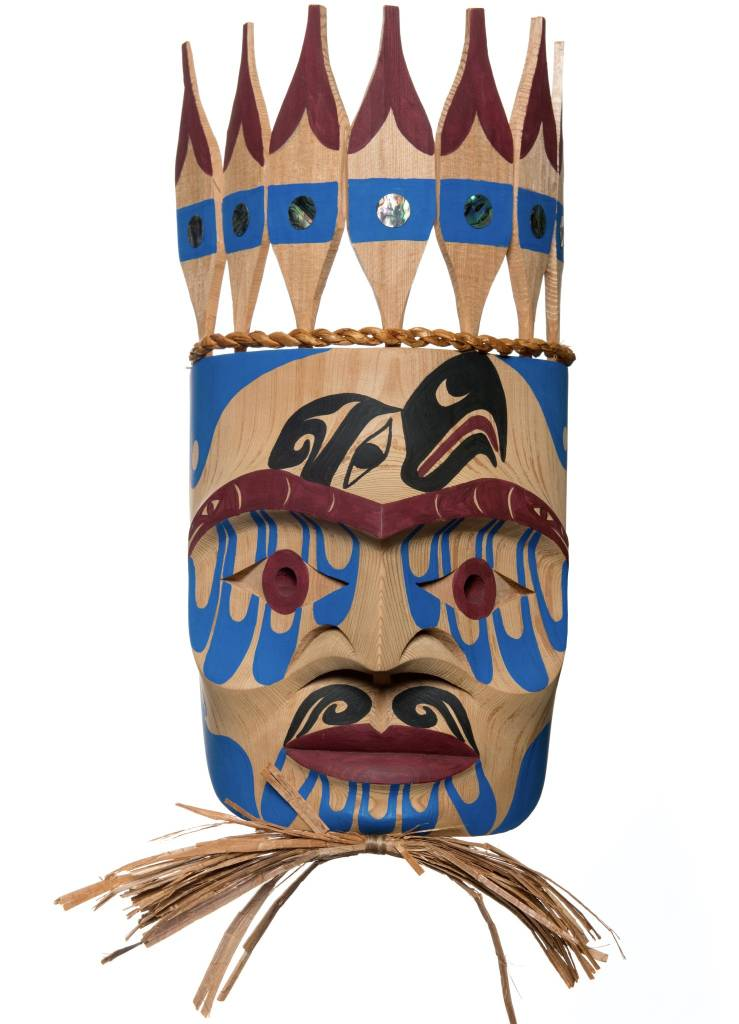 Chief portrait Mask by Russel Tate (Ditidaht).