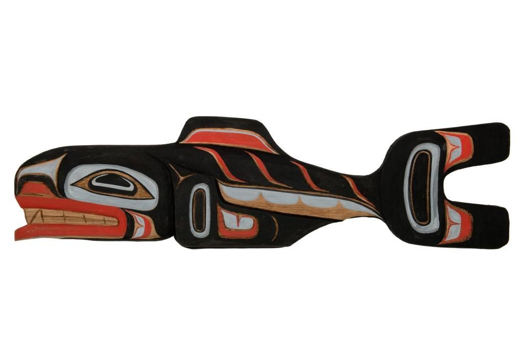 tsaw Salmon Carving by Dwayne Simeon