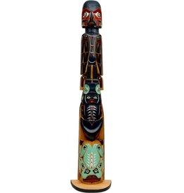 Raven, Killer Whale, Frog Pole Totem Pole