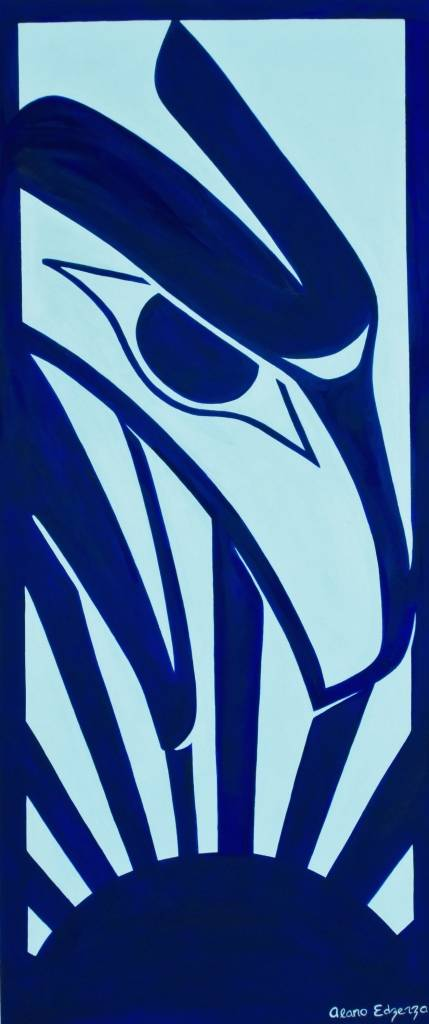 Original Painting by Alano Edzerza -  Raven design
