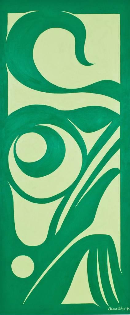 Original Painting by Alano Edzerza -  Frog design
