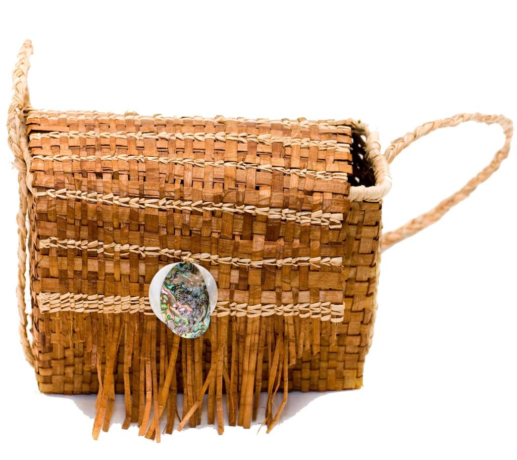 Cedar Bark Bag by Unknown Artist.
