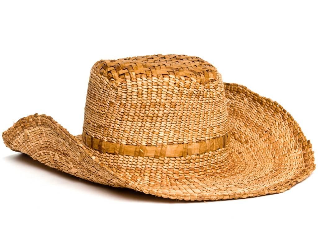 Western Cedar Bark Stetson Hat by Francis Jackson (Gitxsan).