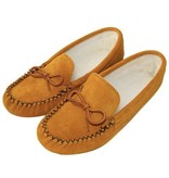 Childrens Moosehide Moccasins with Fleece Lining