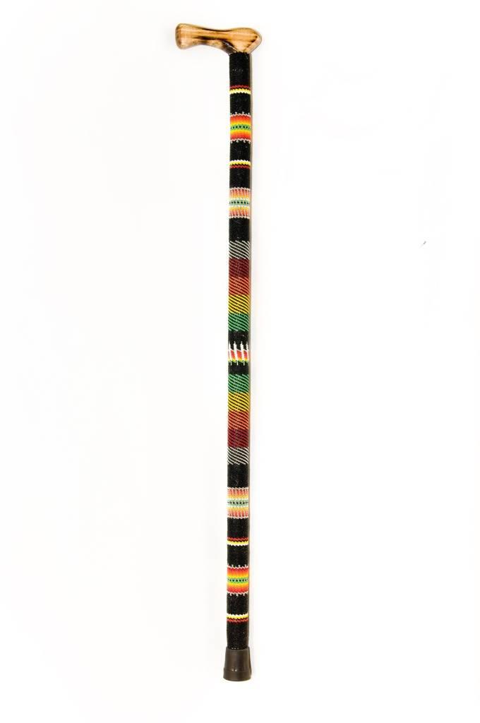 Beaded Cane by Percy Casper (Secwepemc).